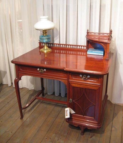 jugendstil schreibtisch artikel details antik alteschmiede. Black Bedroom Furniture Sets. Home Design Ideas
