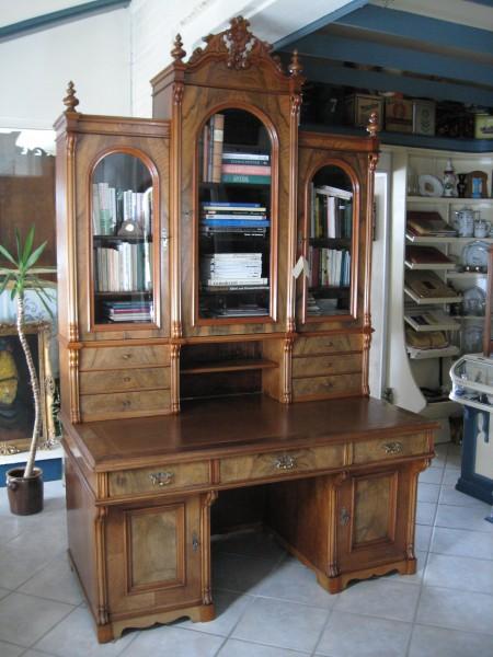 sp t biedermeier schreibtisch mit aufsatz artikel. Black Bedroom Furniture Sets. Home Design Ideas