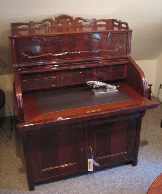 sp t biedermeier rollsekret r artikel details antik alteschmiede. Black Bedroom Furniture Sets. Home Design Ideas